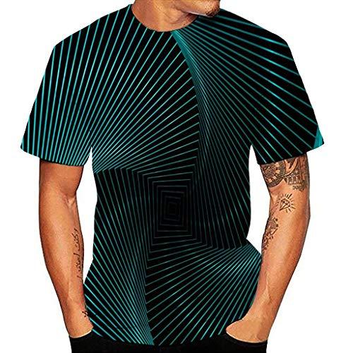 Camisetas Estampada 3D Verano Moda Camiseta de Manga Corta Impresa en para...