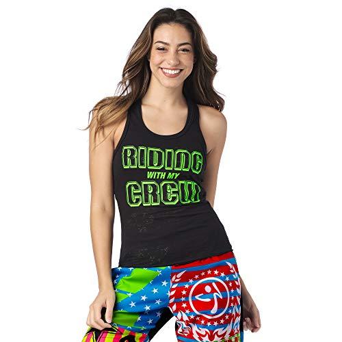 Zumba Aktiv Burnout Dance Workout Kleidung Damen Fitness-Tanktop mit Grafikdruck, Bold Black 8, XXL