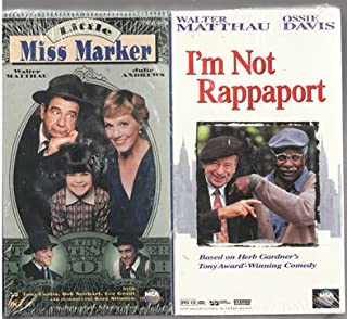 Little Miss Marker & I'm Not Rappaport VHS