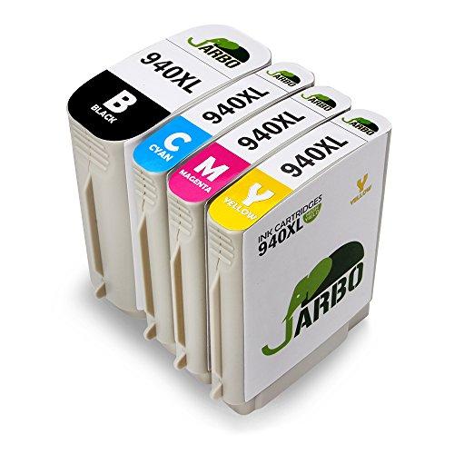 JARBO 940 940XL Sostituzione per HP 940 XL Cartucce d'inchiostro (1 Nero,1 Ciano,1 Magenta,1 Giallo) Compatibile con HP Officejet Pro 8000, 8000 AIO, 8000W, 8500, A809, A909a, A909g, A909n, 8500A