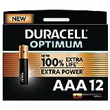 Duracell - NUEVO Pilas alcalinas Optimum AAA , 1.5 Voltios LR03 MX2400, paquete de 12