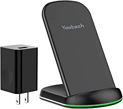 Yootech Wireless Charger, 10W Max Qi-Certified Wireless Charging Stand with QC3.0 AC Adapter,Compatible with iPhone 11/11 Pro/11 Pro Max/XR/XS Max/XS/X/8, Galaxy Note 10/Note 10 Plus/S10/S9/S8