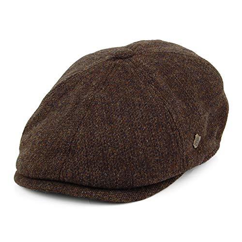 Uomo marrone Dark Brown Herringbone X-Large Basco scozzese Peaky Blinders