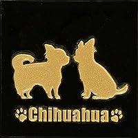 蒔絵シール DOG 「チワワ(2匹)金」