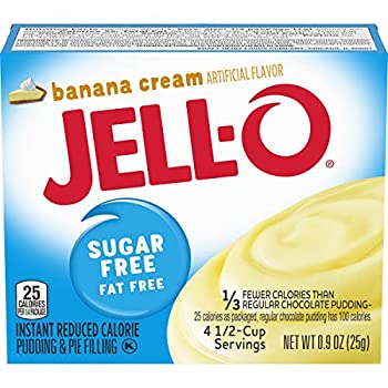 Jell-O Instant Banana Sugar-Free Fat Free Pudding & Pie Filling  0.9 oz Boxes Pack of 6