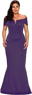 Women's Plus Size Off Shoulder Long Formal Party Dress Evening Gown