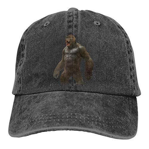 Cap King Kong YouTube Monsterverse Unisex hochwertige Cowboyhut verstellbare Rückseite Knopf Hut