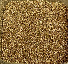 Eurosand Granulat metallic 2-3mm/ kleine Dekosteine 0,5 KG Gold