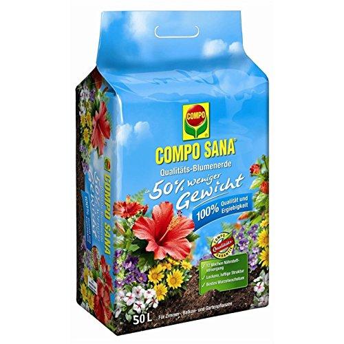 Compo SANA Qualitäts-Blumenerde ca. 50% weniger Gewicht 50 l