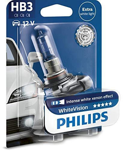 Philips 9005WHVB1 WhiteVision - Bombilla para faros delanteros, efecto Xenon HB3, 1 pieza.