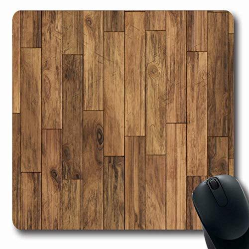 Mousepads für Computer Längliche Form Fliesen Brauner Boden Parkett Muster Abstrakte Planke Holz Holz Eiche Dunkles Holz Rutschfest Oblong Gaming Mouse Pad