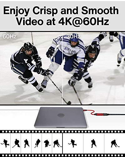 iVANKY USB C auf HDMI Adapter, 4K@60Hz Auflösungs Typ C auf HDMI Konverter mit Video/Audio, Thunderbolt 3 kompatibel für MacBook Pro/Air, iPad Pro, Surface Book 2, Samsung Galaxy und mehr