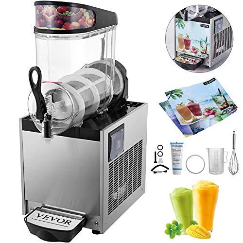 HuSuper SC-1 12L Kommerziell Slusheis Maschine Eismaschine 500W Slushgerät Frozen Drink Slush Maker Slushy Juice für den Saft Tee Kaffee