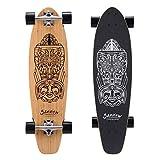 SANVIEW 34inch Complete Bamboo Longboard Skateboards Cruiser Black Pipeline