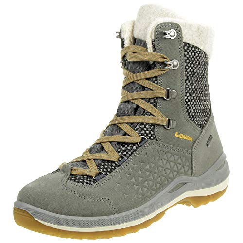 Lowa Calceta II GTX Ws Damen Wanderstiefel Tracking Outdoor Goretex Grau, Schuhgröße:41.5 EU