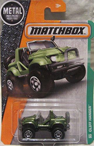 Matchbox 2016 MBX Explorers Cliff Hanger Jeep 124/125, Green