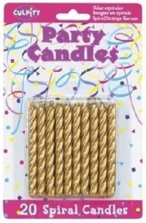 20 Pkg ~ Culpitt Gold Spiral ~ Cake Decorating Candles