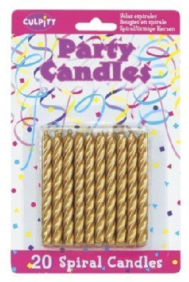 20 Pkg ~ Culpitt Gold Spiral ~ Cake Decorating Candles