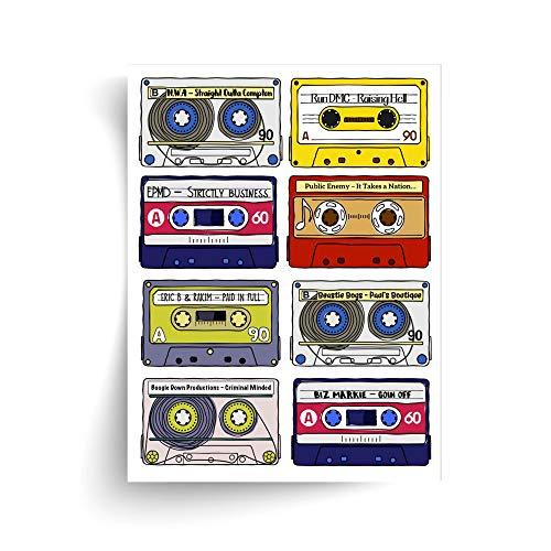 Classic Rap Albums - Unframed Print - Ideal Gift for Music Fan/Ungerahmter Druck
