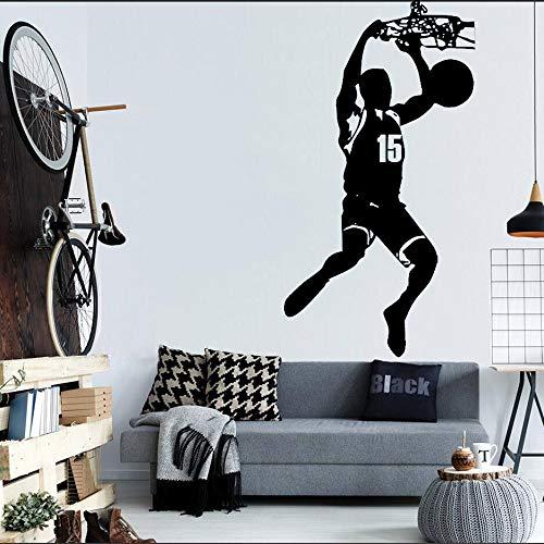mlpnko Basketball Wandtattoos mit personalisierten Namen für strongmen63X82cm