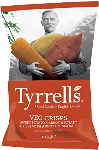 Tyrrell's Vegetable Crisps Carrot, 8er Pack (8 x 100 g)