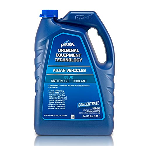 PEAK OET Extended Life Blue Concentrate Antifreeze/Coolant for Asian Vehicles, 1 Gal.