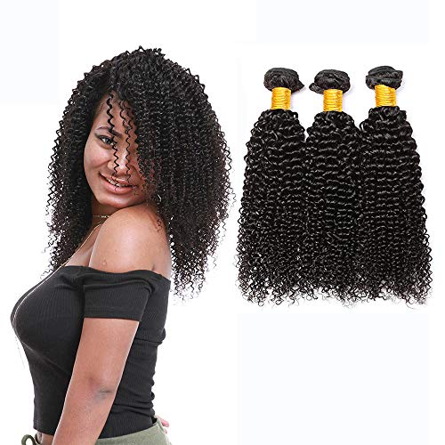 LAdiary capelli umani ricci extension capelli veri tessitura 3 fasci di capelli umani brasiliani capelli ricci extension veri totale 300g 18 20 22 pollice