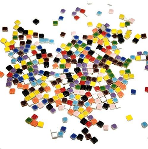 Playbox - Tessere per Mosaico, Glitterate, 5 x 5 mm, 500 pz