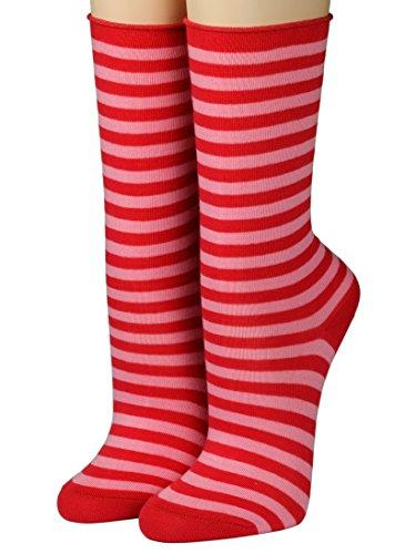 CRÖNERT Socken Longsocks Söckchen im Design Kieler Ringel Socken 18808 (39/42, rot 1547)