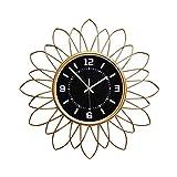 WANGXINQUAN Sala de estar estilo europeo decoración del hogar mesa colgante minimalista moderno reloj nórdico atmósfera personalizado 60 x 60 cm