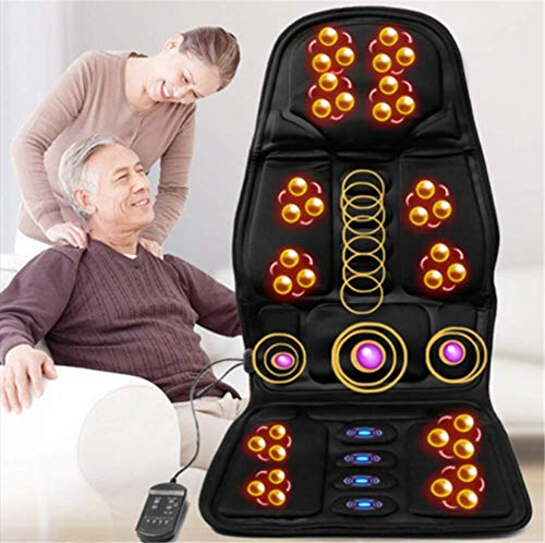 Massage Cushion - Shiatsu and Tapping Full Back Vibration car seat Massage Cushion Back Massage Cushion - car Home Office use