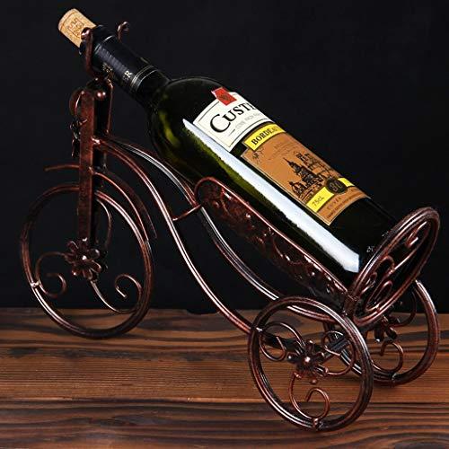 Yaeeee Moderna Minimalista Creativo Estante del Vino Decoración de Tres Ruedas en Forma de Sala de Estar Adornada de Vino Rack 25x37cm
