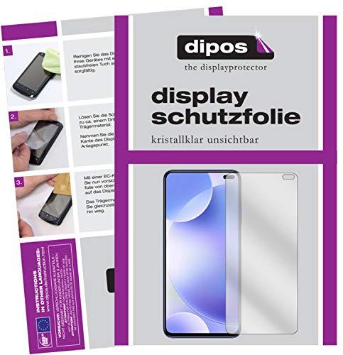 dipos I 6X Schutzfolie klar kompatibel mit Xiaomi Poco F2 Pro Folie Displayschutzfolie (bewusst Kleiner als das Glas, da Dieses gewölbt ist)