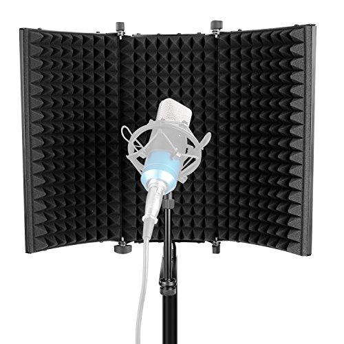 Neewer Professional Studio Aufnahme Mikrofon Isolation Shield Absorbierender Schaum mit hoher Dichte zum Filtern von Stimmen Kompatibel mit Blue Yeti und allen Kondensatormikrofon