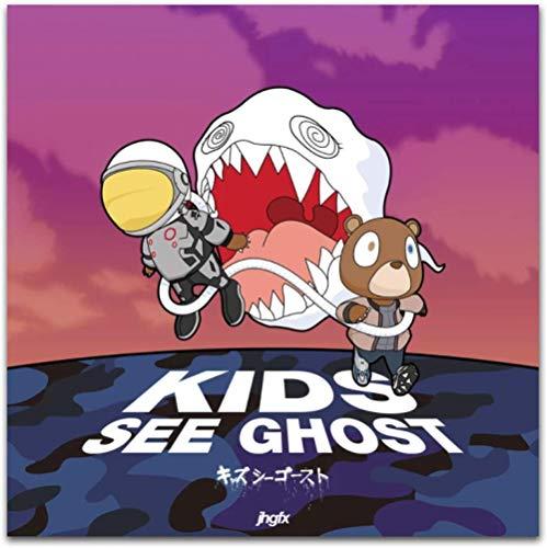 Kanye West & Kid Cudi 2018 Álbum de música Kids See Ghosts Posters e impresiones Imágenes Impresiones en lienzo Arte de la pared Pintura Decoración para el hogar-40 cm x 60 cm Con marco