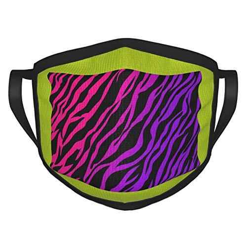 Hot Pink Purple Zebra Print Wallpaper Men Breathable Black Dust Mouth Cover Black