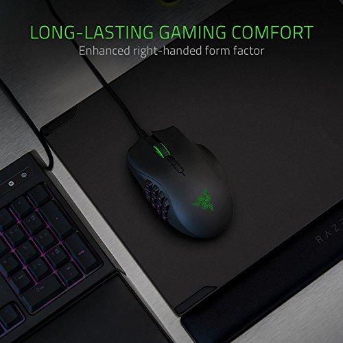Razer Naga Trinity MOBA/MMO-Gaming-Mouse - (3 placas laterales intercambiables, sensor óptico de 5G de 16 000 ppp, hasta 19 botones programables)