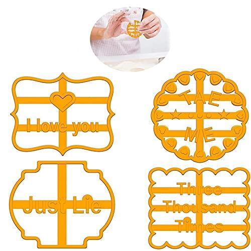 Stampi per Biscotti con Auguri, Stampini per Biscotti Divertenti per la Cottura di Formine per Biscotti Stampi per Biscotti a Forma di Cucina Fai da te
