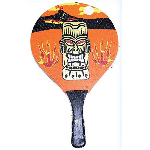Racchettoni da spiaggia in legno con pallina mod.Fire, coppia racchette beach tennis in legno da 8mm, coppia racchetta da spiaggia completa di pallina,racchette da spiaggia,racchettoni mare in legno