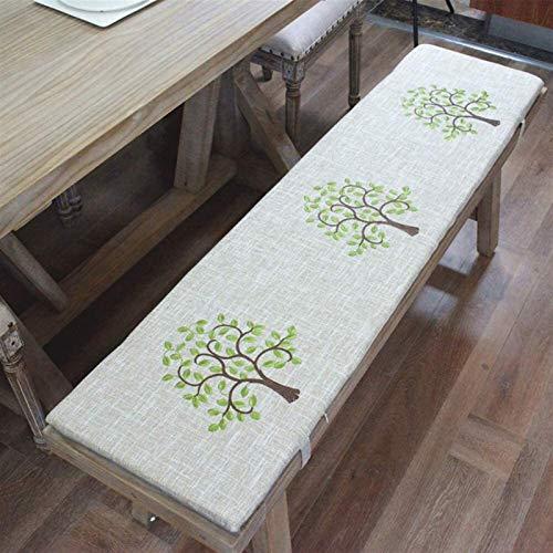 Cojín de banco clásico para interiores y exteriores, cojín largo para muebles de patio, de madera maciza, cojines para silla (color: D, tamaño: 34 x 132 x 3 cm)