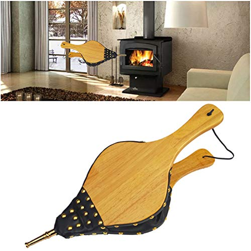 Amazing Deal NANANA Mini Fireplace Wood Bellows, Manual Blower Leather Blower, Air Bellow Fireplace ...