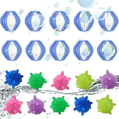 Boules De Blanchisserie Tissu Poils D'animaux Enlever La Machine à Laver Les Vêtements De Nettoyage Boule de Lavage ColoréeRéutilisable Boule à Linge Écologique pour (Bleu)