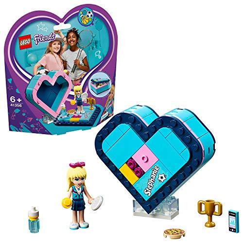 LEGO Friends - Caja Corazón de Stephanie, divertido set de construcción coleccionable para guardar tus cosas (41356)