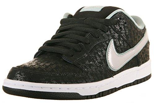 Nike Mens Dunk Low Pro Premium SB SPOT Black/Metallic Platinum...