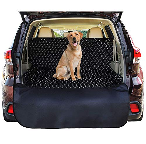 SUV Cargo Liner Cover For SUVs and Cars, Waterproof Material , Non Slip Backing, Extra Bumper Flap Protector, Large Size - Universal Fit