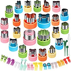 in budget affordable Vegetable cutting mold set 24 pieces Cesia Oime cookie cutter 20 pieces Fruit stamp type