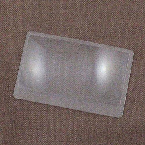 XZANTE 3 x Lupa Aumento de magnificacion Fresnel Tamano de tarjeta de credito de bolsillo Lupa transparente