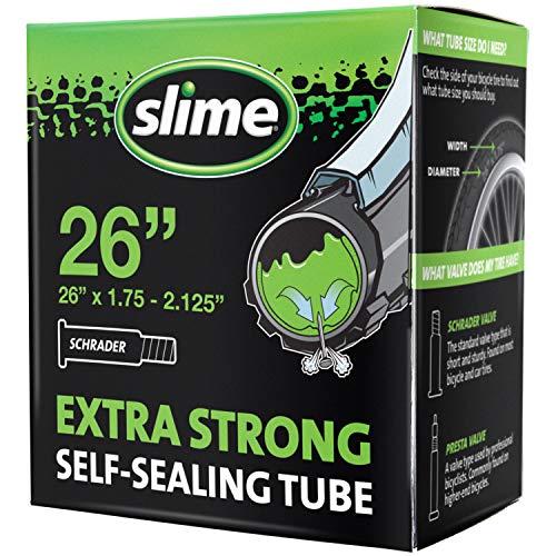"""Slime 30059 Chambre à Air de Vélo avec Produit Anti-crevaison Slime, Auto-réparation, Prévention et Réparation, Valve Schrader, 47/57 -559mm (26""""x1,75-2,125"""")"""