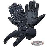 Motorradhandschuhe PROANTI Regen Winter Motorrad Handschuhe (Gr. M, schwarz)