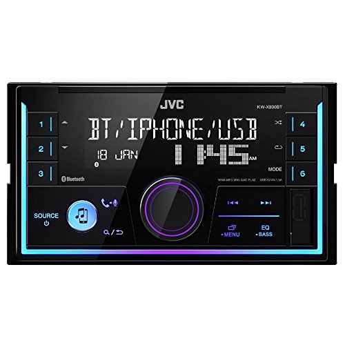 JVC KW-X830BT, Autoradio Multimedia Bluetooth, 1, Negro